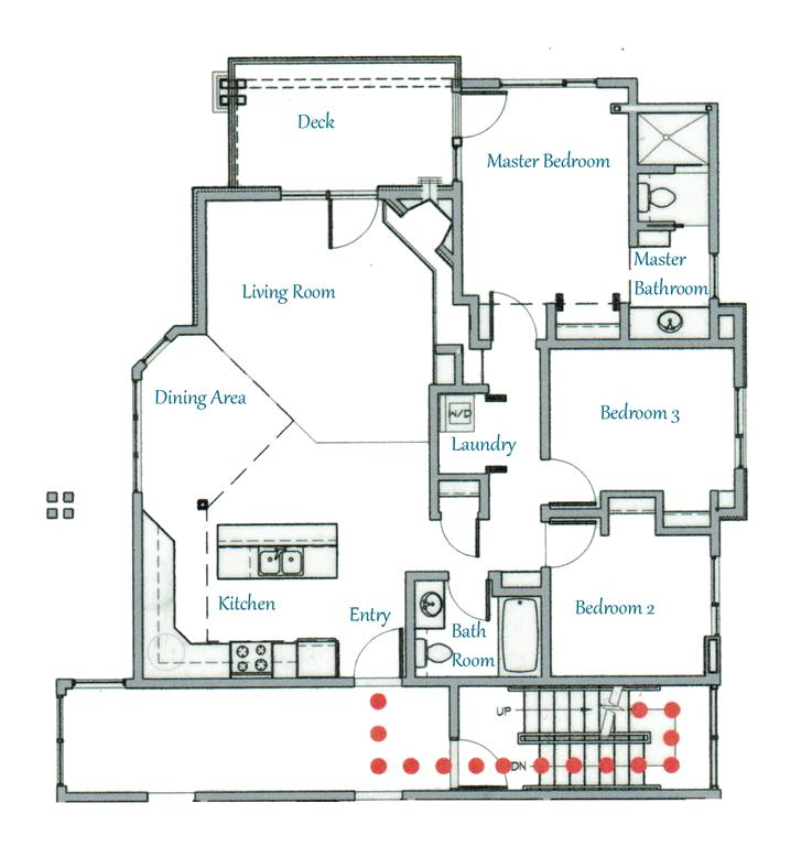 Floor Plan for Gorgeous 3BR Condo at Whitefish Mountain Resort!