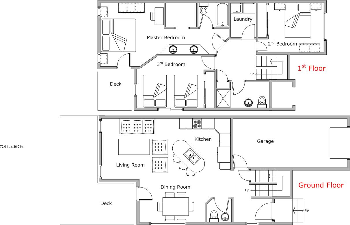 Floor Plan for Lakeshore Hideaway - 3 Bedroom in Mountain Harbor